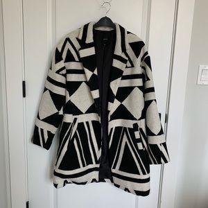 aztec printed coat